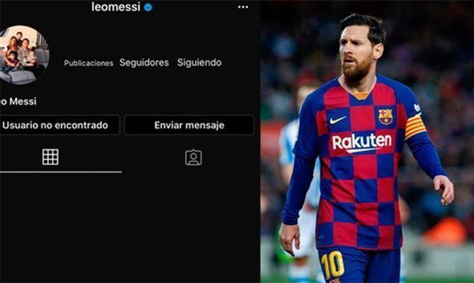 Tài khoản Instagram của Messi không có người theo dõi