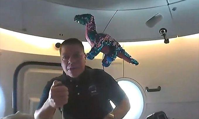 Phi hành gia mang khủng long vải lên trạm ISS